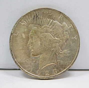 1923-S Peace SILVER Dollar - San Francisco Minted