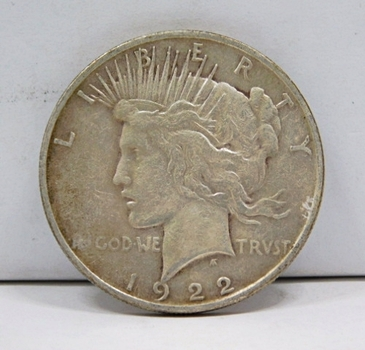 1922-D Peace Silver Dollar - Struck at the Denver Mint