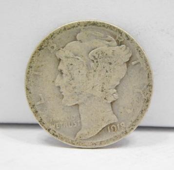 SCARCE DATE - 1918-S Silver Mercury Head Dime
