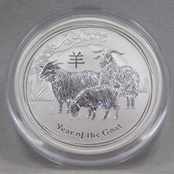 2015 Australian Lunar Series Year of the Goat 1/2 oz .999 Fine Silver - Brilliant Uncirculated in Original Mint Capsule