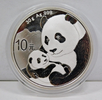 2019 China .999 Fine Silver Panda w/Cub 30g - Brilliant Uncirculated in Original Mint Capsule