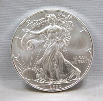 2020 $1 American Silver Eagle 1 oz .999 Fine Silver - Brilliant Uncirculated