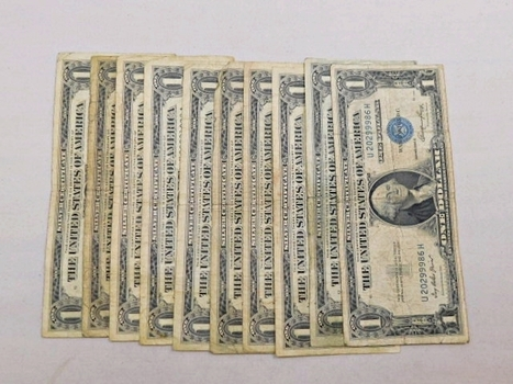 Lot Of Ten (10) 1957 And 1935 Silver Certificates