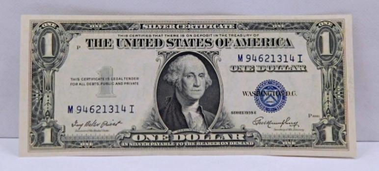 1935-E One Dollar Silver Certificate Crisp Paper
