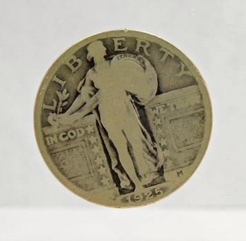 1925 Silver Standing Liberty Quarter - Philadelphia Minted
