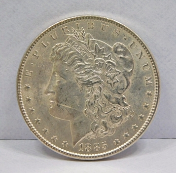 1885 Brilliant Uncirculated Morgan Silver Dollar - Excellent Detail and Luster - Nice Coin