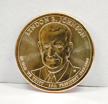 2015-P Lyndon B. Johnson Presidential Commemorative Dollar - Uncirculated and in Protective Capsule