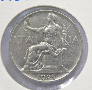 1923 Italy One Lira High Grade