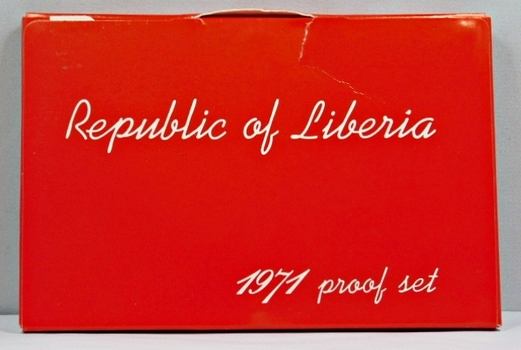 1971 Republic Of Liberia Proof Set - 6 Coins - Only 3,012 Minted