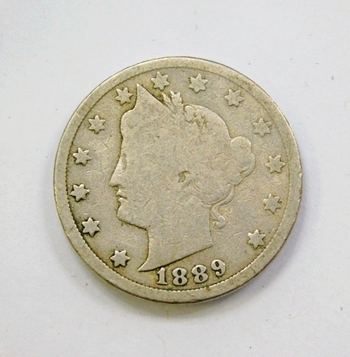 Semi-Key Date 1889 Liberty V Nickel-Collector Grade