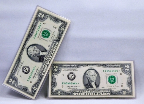 REPLACEMENT ERROR STAR NOTES - Set of 2 Consecutive Serial Numbered 1995 $2 Atlanta, Georgia Federal Reserve Notes