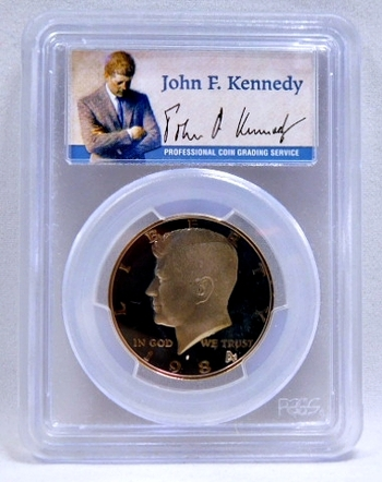 1984-S Proof Kennedy Half Dollar - SIGNATURE BY JOHN F. KENNEDY - Graded PR69 DCAM by PCGS