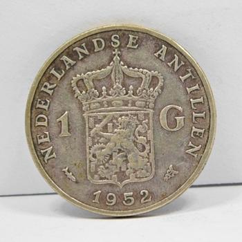 1952 Netherlands Antilles Silver Gulden