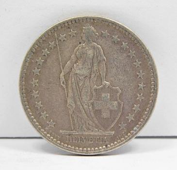 1921 Switzerland Silver 2 Francs