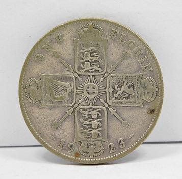 1923 Great Britain Silver Florin