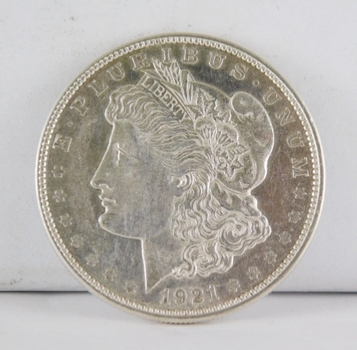 1921-D Morgan SILVER Dollar - Excellent Detail and Luster - Denver Minted