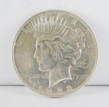 1923 Silver Peace Dollar - High Grade Philadelphia Minted