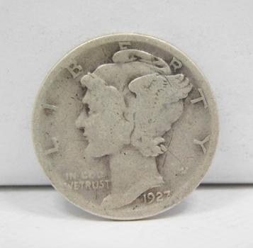 Scarce Date - 1927-S Silver Mercury Head Dime