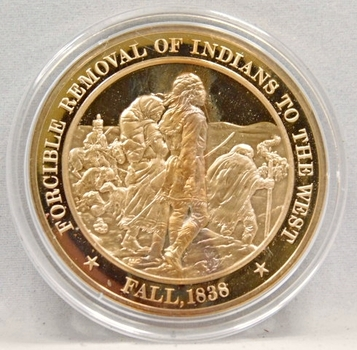 1838 Forcible Removal Of Indians To The West Franklin Mint Bronze Proof Commemorative Medal