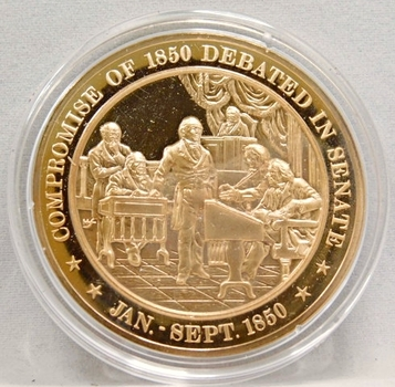 1850 Compromise Of 1850 Debated In Senate Franklin Mint Bronze Proof Commemorative Medal