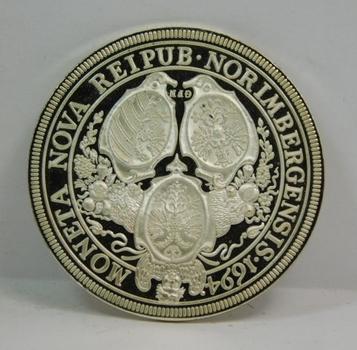1694 Nurnberg German State Silver Thaler Restrike in Nice Presentation Box - Proof Condition