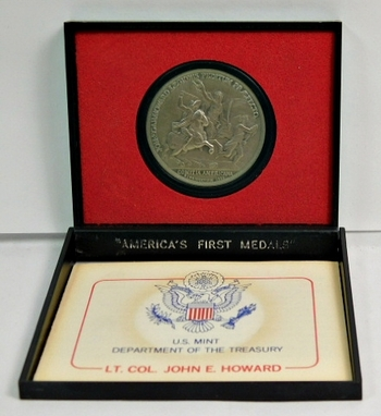 "U.S. Department of the Treasury - America's First Medals - LT. COL. JOHN E.HOWARD - 1.5"" Diameter Pewter"