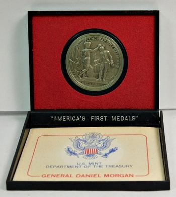 "U.S. Department of the Treasury - America's First Medals - GENERAL DANIEL MORGAN - 1.5"" Diameter Pewter"