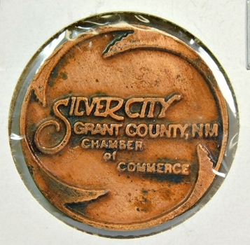 "Silver City, New Mexico - Gateway to the Gila Wilderness - Grant County, NM - 1.5"" Bronze"