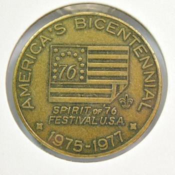 "Spirit of '76 Festival USA - America's Bicentennial - 1.5"" Bronze Medal"