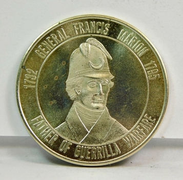 "South Carolina - Battle Ground for Freedom - General Francis Marion Commemorative Medal - 1.25"" Diameter"