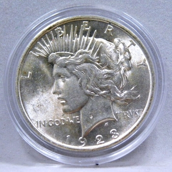 1923 Peace Silver Dollar - Excellent Detail and Luster - High Grade Coin