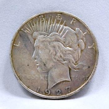 1927-D Peace Silver Dollar - Denver Minted