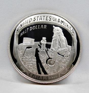 2019-S Proof Apollo 11 Commemorative Half Dollar - Mercury*Gemini*Apollo - Print of Footstep on Moon - In Original Mint Capsule