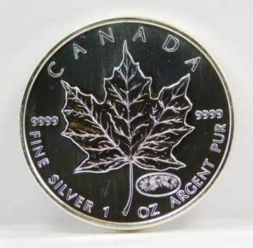 1999 Canada $5 Maple Leaf - 1 oz .9999 Fine Silver w/Y2K 2000 Privy