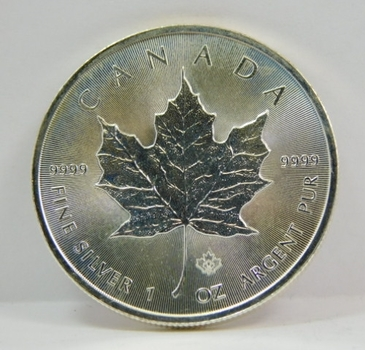 2014 $5 Canada 1 oz .9999 Silver Maple Leaf w/Maple Privy