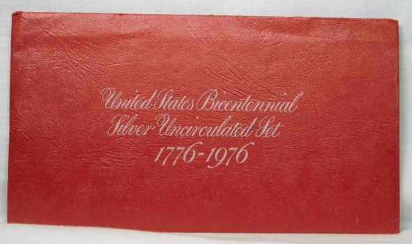 1776 - 1976 United States Bicentennial SILVER Uncirculated Set - Three Coins Set