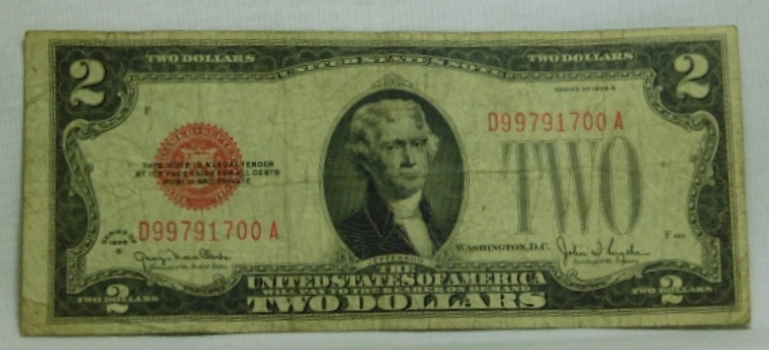 Series 1928G $2 Red Seal United States Note