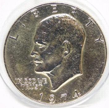 "1974 Eisenhower ""IKE"" Dollar ($1) - Nice Luster!"