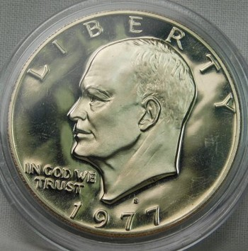 "1977-S Proof Eisenhower ""IKE"" Dollar ($1) - Deep Mirror"