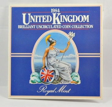 1984 United Kingdom Brilliant Uncirculated Coin Collection in Original Royal Mint Packaging