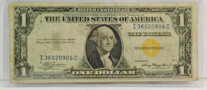 Series 1935A $1 North Africa WWII Emergency Issue Silver Certificate - Yellow Seal - Crisp Paper