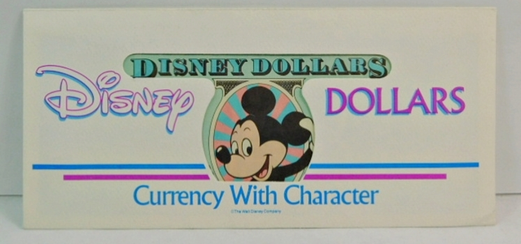Series 1990 DISNEY DOLLAR - Crisp Uncirculated - With Original Envelope