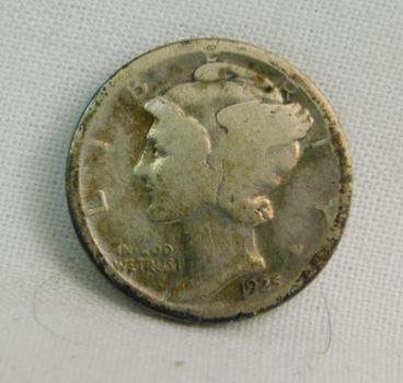 1925-D Silver Mercury Head Dime - Denver Minted