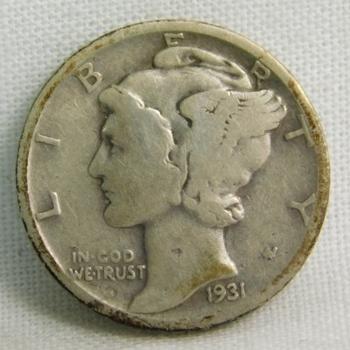 1934 Silver Mercury Head Dime - Philadelphia Minted