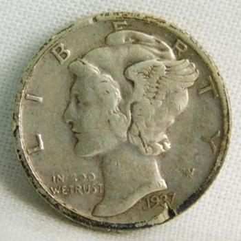 1937-S Silver Mercury Head Dime - San Francisco Minted