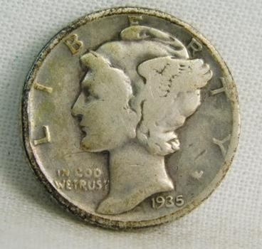 1935 Silver Mercury Head Dime - Philadelphia Minted