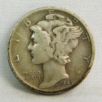1945-S Silver Mercury Head Dime - San Francisco Minted