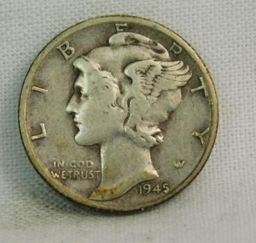 1945 Silver Mercury Head Dime - Philadelphia Minted