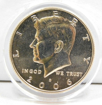 2007 P D Kennedy Half Dollars With 2 Capsules from Mint Set Combined Shipping