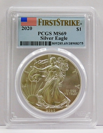 2020 American Silver Eagle - First Strike - Graded MS69 by PCGS